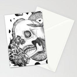 Flower Snake and Skull Stationery Cards