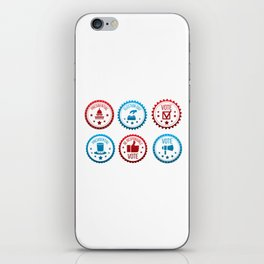 Be Responsible And Go Vote iPhone Skin