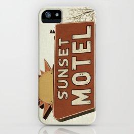 Sunset Motel iPhone Case
