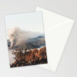 Volcano landscape Stationery Cards