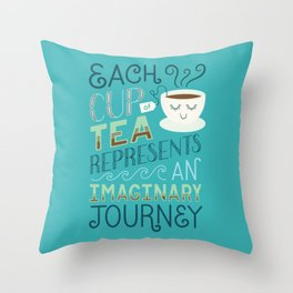 Tea is a Journey Throw Pillow