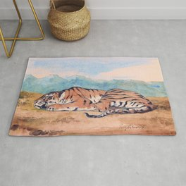 12,000pixel-500dpi - Eugene Delacroix - Royal Tiger - Digital Remastered Edition Rug