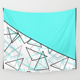 Abstract turquoise combo pattern . Wall Tapestry