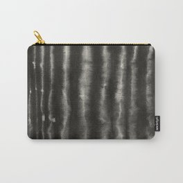 Minimalistic Painted Surface Black Watercolor Carry-All Pouch