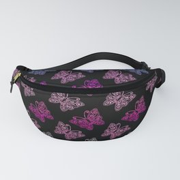 Butterflies in the dark, animal print, nature print Fanny Pack