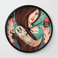 party Wall Clocks featuring Party by Victor Beuren
