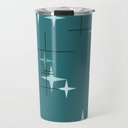 Mid Century Modern Stars (Ocean Green) Travel Mug