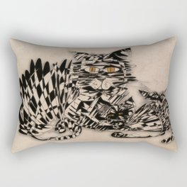 3 cats esoflowizm art Rectangular Pillow