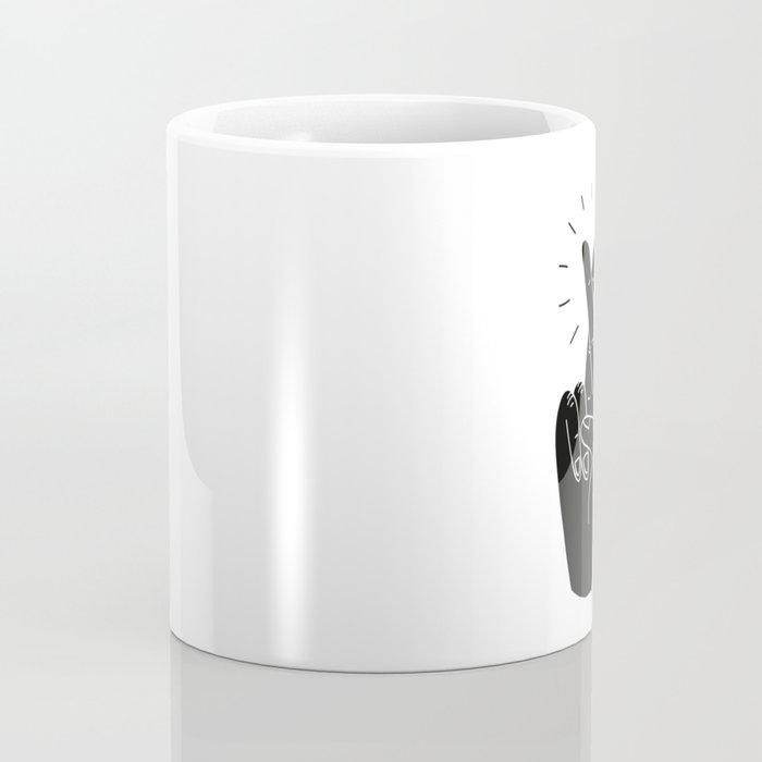 Fingers Crossed Coffee Mug