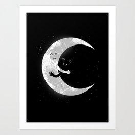 Moon Hug Art Print