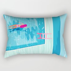In Deep - memphis throwback swimming athlete palm springs resort vacation country club infinity pool Rectangular Pillow