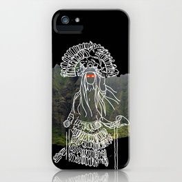 rocky mountain woman iPhone Case