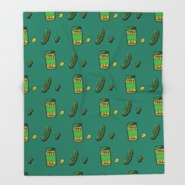 Pickle Love Throw Blanket
