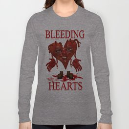 Bleeding Hearts .. gothic fantasy Long Sleeve T-shirt