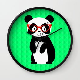 shocked panda Wall Clock