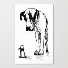 Great Dane & Chihuahua Canvas Print