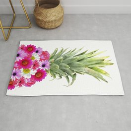 Pineapple Flowers Rug