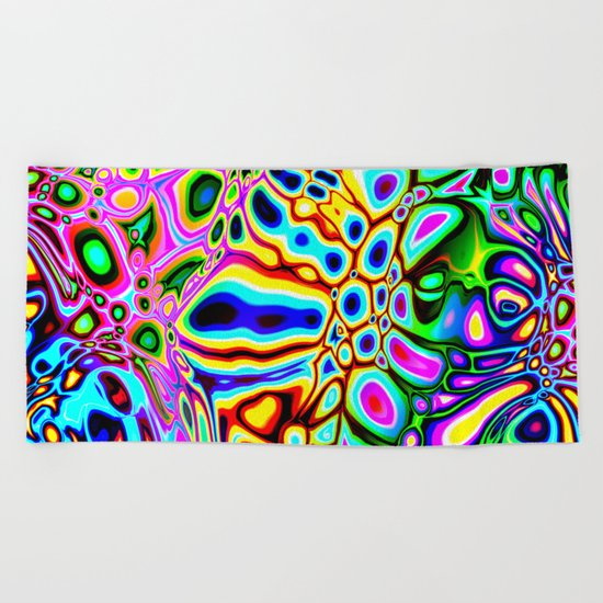 Spectral Abstract Beach Towel