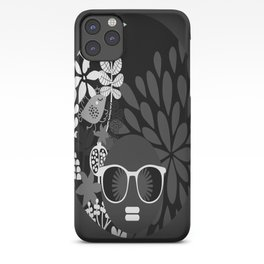 Afro Diva : Sophisticated Lady Black & White iPhone Case