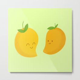 Happy Mangoes Metal Print