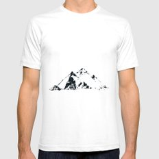 Splaaash Series - Pyramids Ink Mens Fitted Tee SMALL White