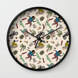 On the freedom experienced by Desert Bike Harpies.   Wall Clock