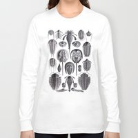 geology Long Sleeve T-shirts featuring Trilobites and Fossils by Ernst Haeckel by Yak Lab