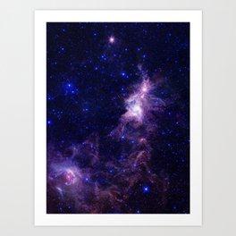gAlAXY Purple Blue Art Print