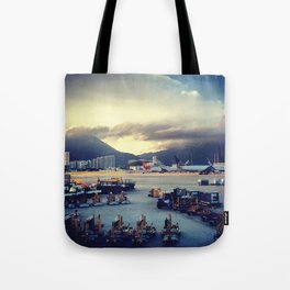 Dawn at Chek Lap Kok Tote Bag