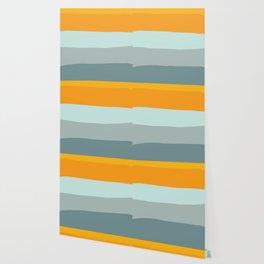 Zen Ocean Stripes Wallpaper