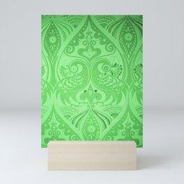 Ornamental Lovebirds Decorative Green Mini Art Print