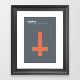 Atheism Framed Art Print