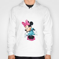 minnie mouse Hoodies featuring Minnie Mouse Cartoon by Maxvision
