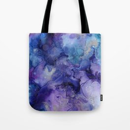Abstract Watercolor Coastal, Indigo, Blue, Purple Tote Bag