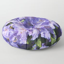 Indigo Azaleas Floor Pillow
