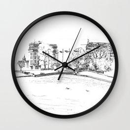 In front of Bergen art museum Wall Clock