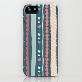 Happy Birthday Tweet Heart Whimsical Pattern iPhone Case
