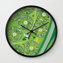 Green Garden City in Denmark Wall Clock