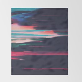 Glitched v.5 Throw Blanket