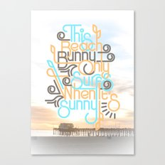 BEACH BUNNY Canvas Print