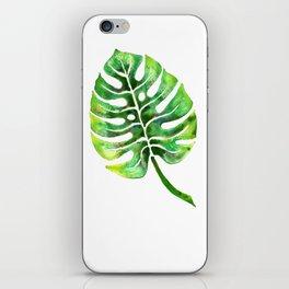 Monstera Green Leaf iPhone Skin