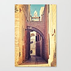 Jerusalem Alley Canvas Print