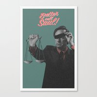 better call saul Canvas Prints featuring Better Call Saul by Messypandas