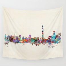 Washington dc skyline Wall Tapestry