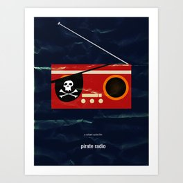 pirate radio Art Print
