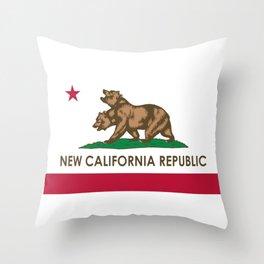 New California Republic Throw Pillow