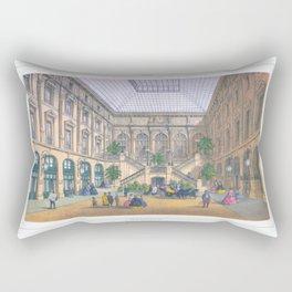 Paris art print Paris Decor office decoration vintage decor HOTEL DU LOUVRE of Paris Rectangular Pillow
