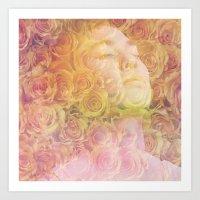 Rose Head ANALOG ZINE Art Print