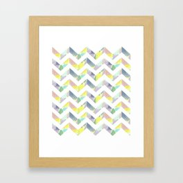 Abstract Color Chevron Framed Art Print