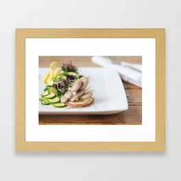 Summer Mushroom Salad Kitchen Art Framed Art Print